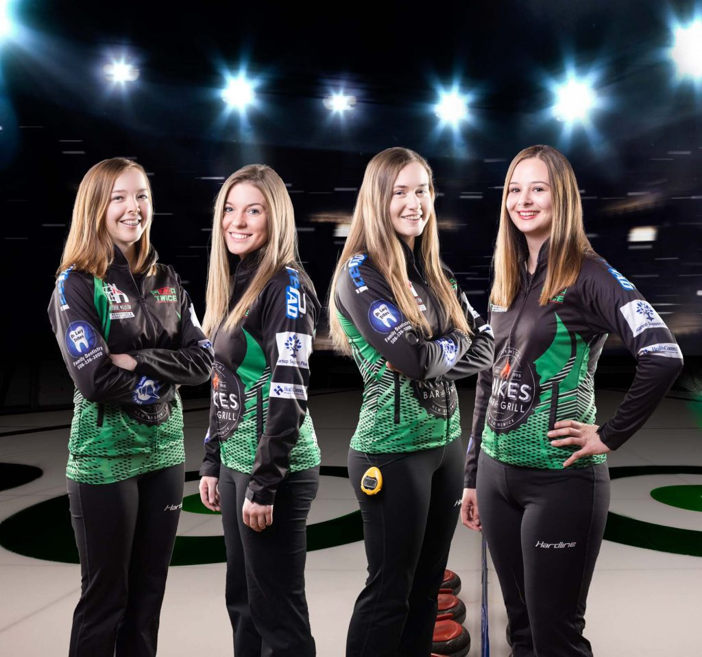 NB junior women's curling Team Crook