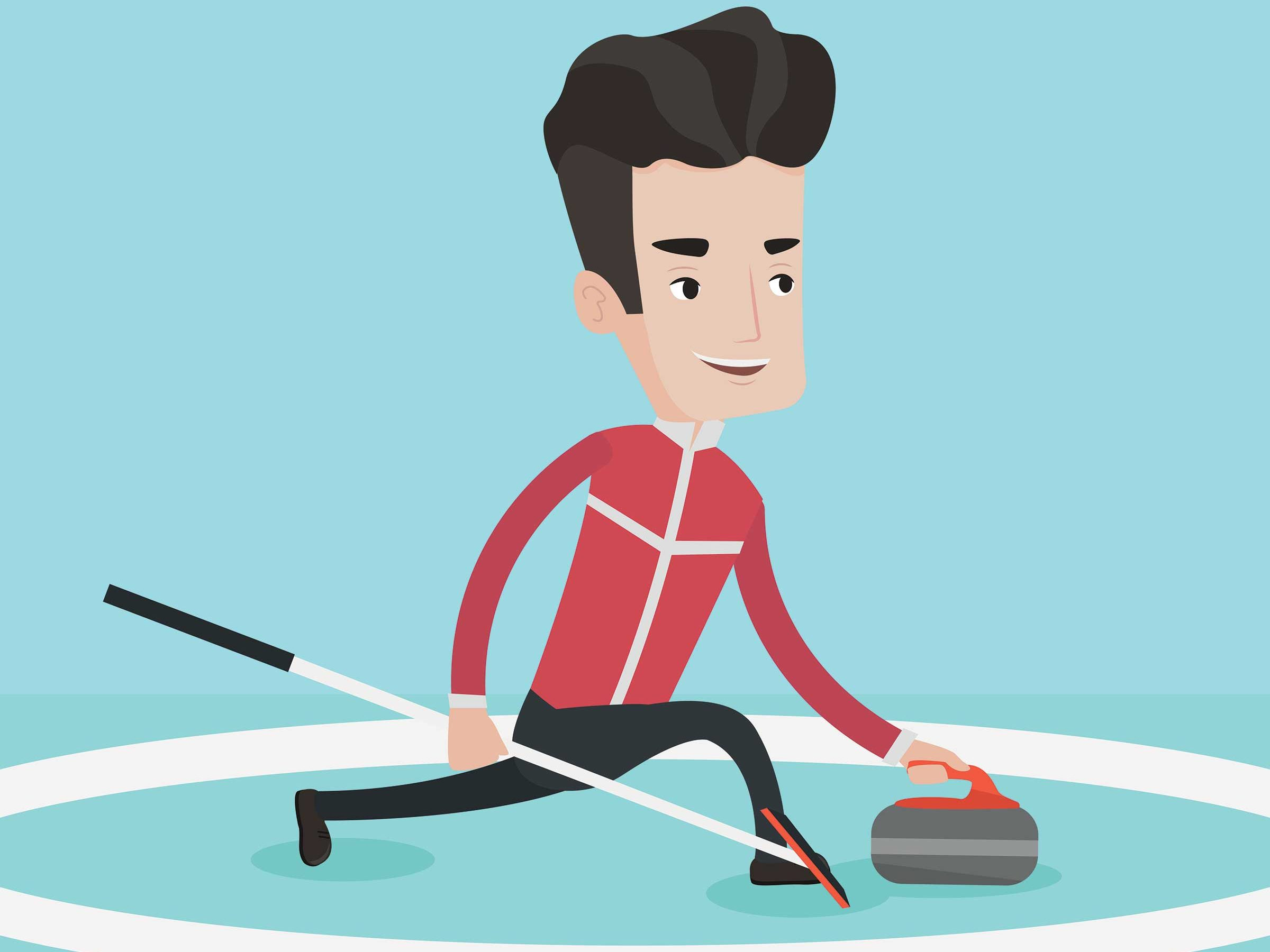 Male Curler Graphic
